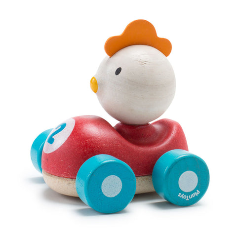 Wooden Animal Racer - Chick - Chinaberry Books, Toys & Treasures - 1