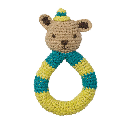 Organic Crochet Rattle - Squirrel - Chinaberry Books, Toys & Treasures