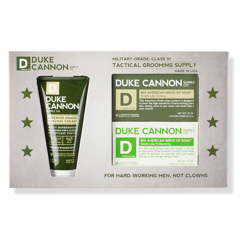 Duke Cannon Men's Tactical Supply: Shower & Shave - Chinaberry Books, Toys & Treasures - 1