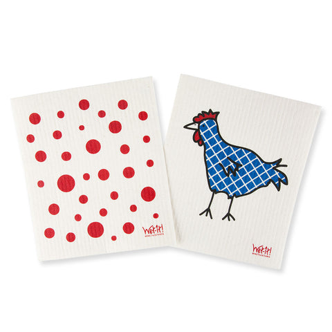 Swedish Dish Cloths Set of 2 - Chinaberry Books, Toys & Treasures - 1