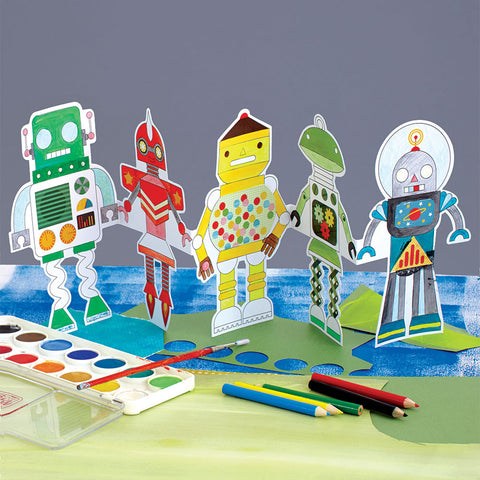 Robot Paper Doll Chain - Chinaberry Books, Toys & Treasures - 1