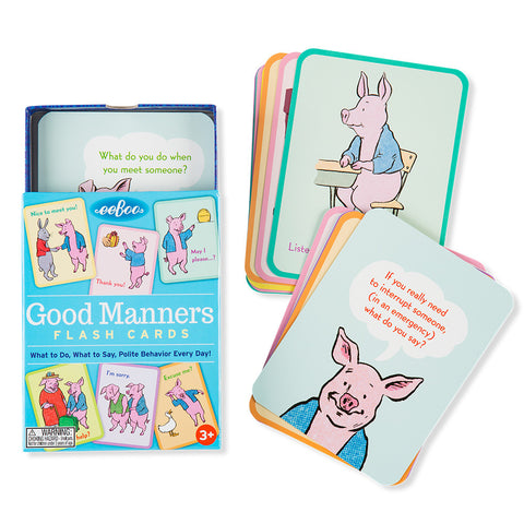 Good Manners Flash Cards - Chinaberry