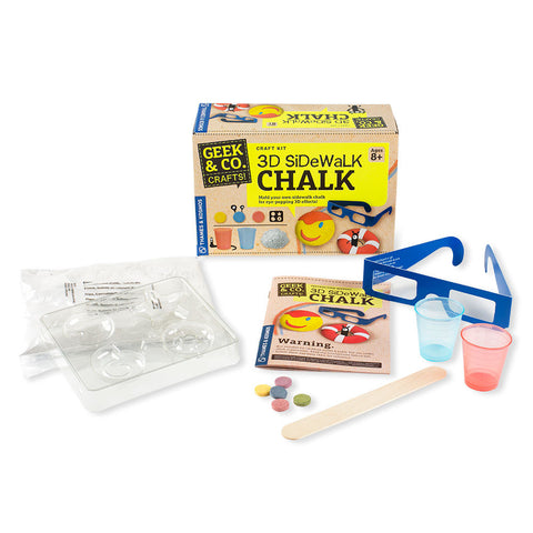 3D Sidewalk Chalk Kit - Chinaberry Books, Toys & Treasures