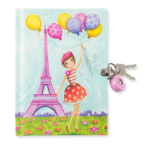 J'Adore Paris! Locked Diary