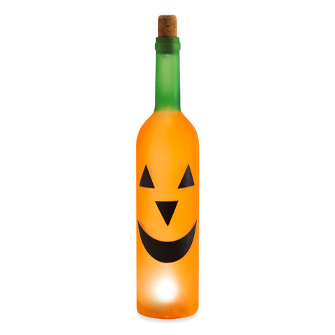 Halloween Bottle Light Pumpkin