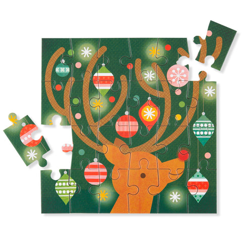 Mini Holiday Puzzle - Reindeer - Chinaberry