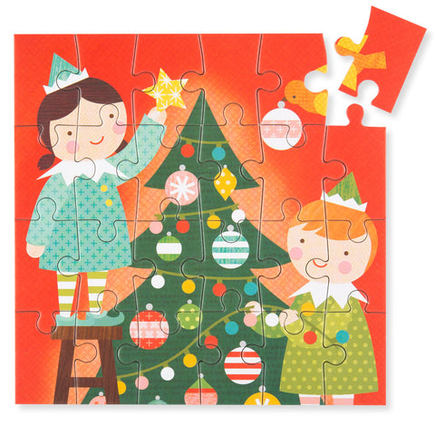 Mini Holiday Puzzle - Elf - Chinaberry