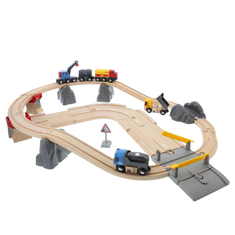 Rail & Road Train Set- Chinaberry