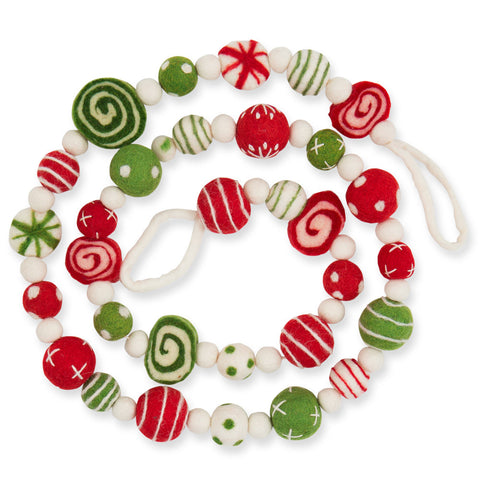 Peppermint Mix Felt Garland - Chinaberry