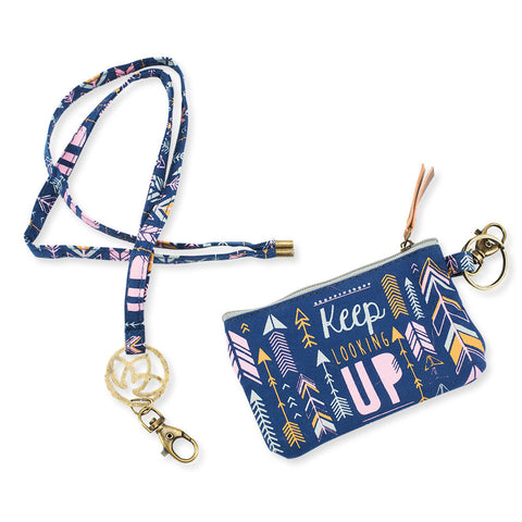 Keep Looking Up ID Holder with Lanyard