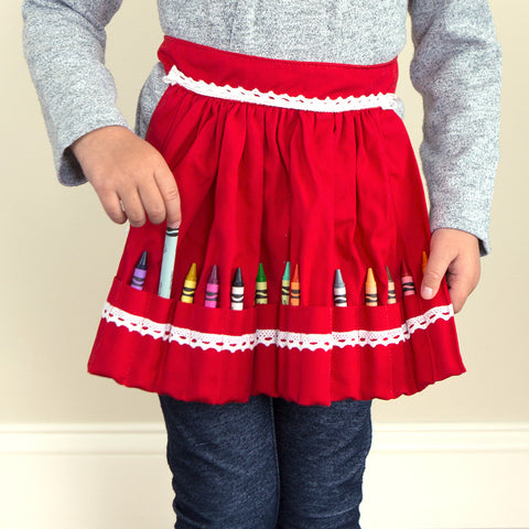 crayon apron - chinaberry