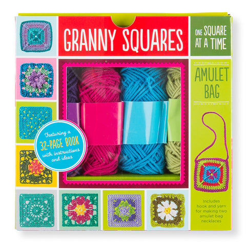 Granny Squares Crochet Kit- Amulet Bag