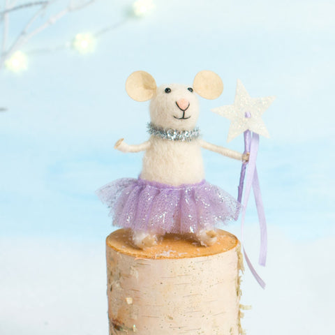 Sugar Plum Mice - Purple Star - Chinaberry