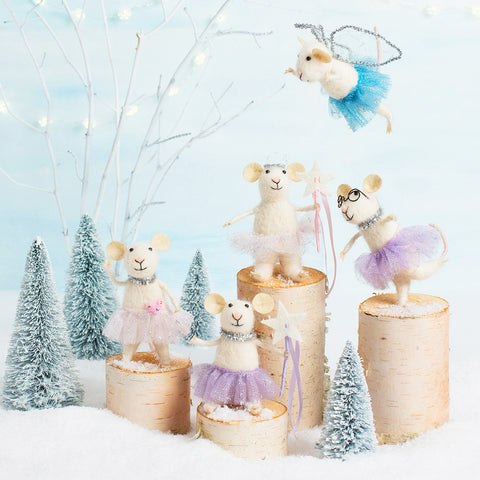 Sugar Plum Mice - Set of 5 - Chinaberry