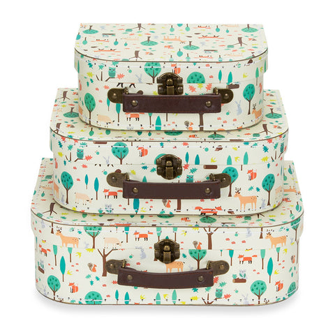 Forest Friends Suitcases- set of 3
