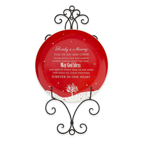 Family Blessing Plate & Display - Chinaberry Catalog