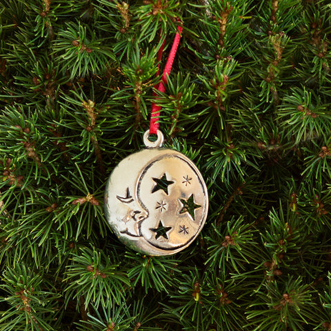 Pewter Christmas Ornament - Moon - Chinaberry Catalog