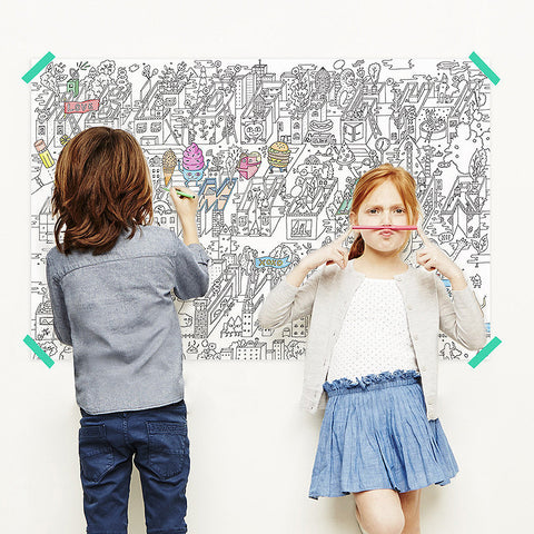 Alphabet City Coloring Poster - Chinaberry