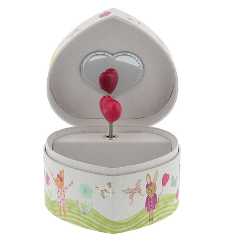 Bunny Jewelry Music Box- Open- Chinaberry
