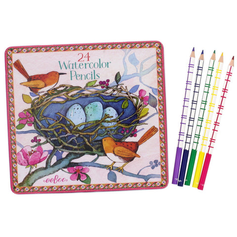 Pretty Bird Watercolor Pencils - Chinaberry