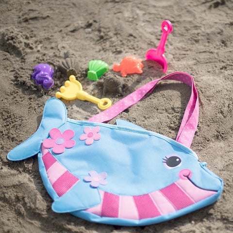 Beach Tote and Toys- Dolphin- Chinaberry
