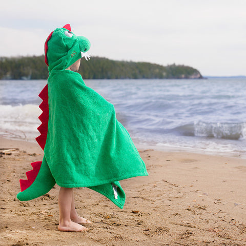 Dino Hooded Towel- Chinaberry