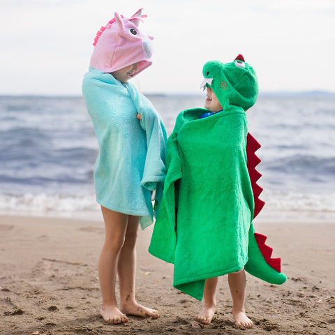 Unicorn Hooded Beach Towel- Chinaberry