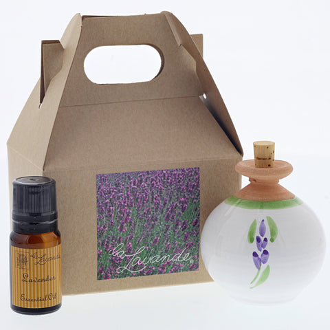 Lavender Scent Diffuser & Essential Oil Gift Set- Chinaberry