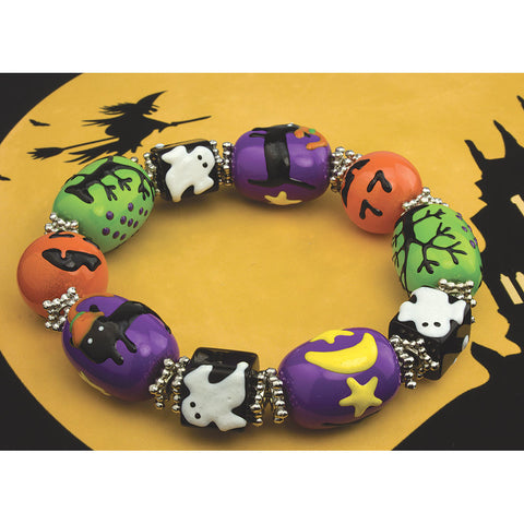 Spooky Halloween Bracelet- Chinaberry