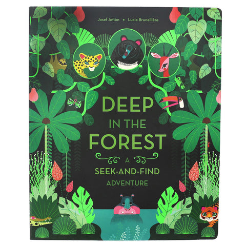 Deep in the Forest Lift-a-Flap Book- Front- Chinaberry