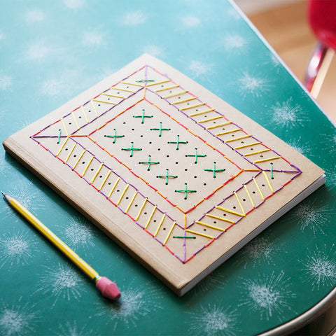 Embroidered Notebook Kit- Chinaberry