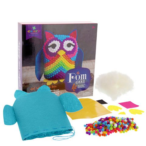 Pom Owl Kit- Chinaberry