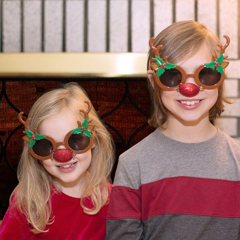 Holiday Novelty Glasses - Rudolph - Chinaberry Catalog