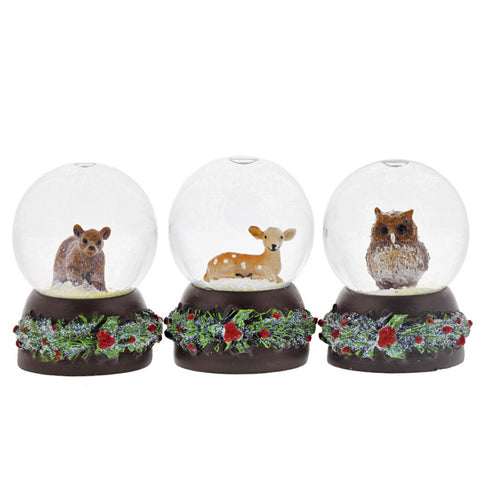 Baby Animal Glitterdomes- Set of 3- Chinaberry