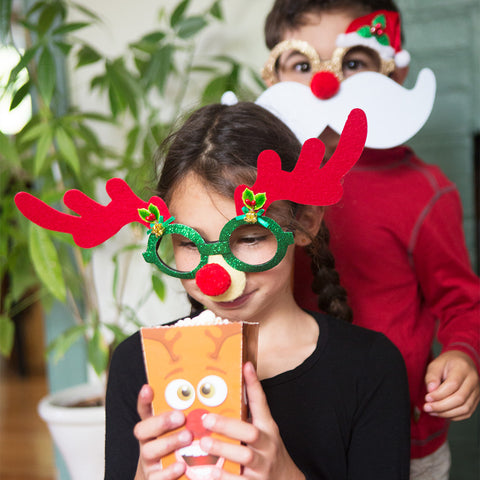 Holiday Novelty Glasses- Reindeer- Chinaberry