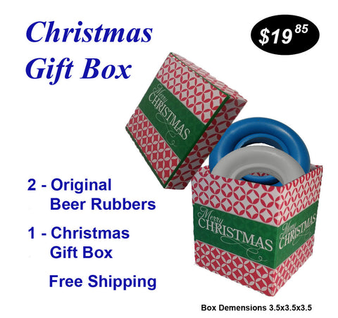 Christmas Gift Boxes.Christmas Gift Box 2 Original Beer Rubbers Free Shipping