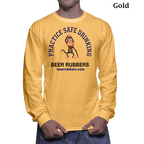 "PRACTICE SAFE DRINKING  MEN'S (Long Sleeve) - Tee-Shirt (Free Shipping) <font color=""gray"">Save 5.00 on Shipping</font>"