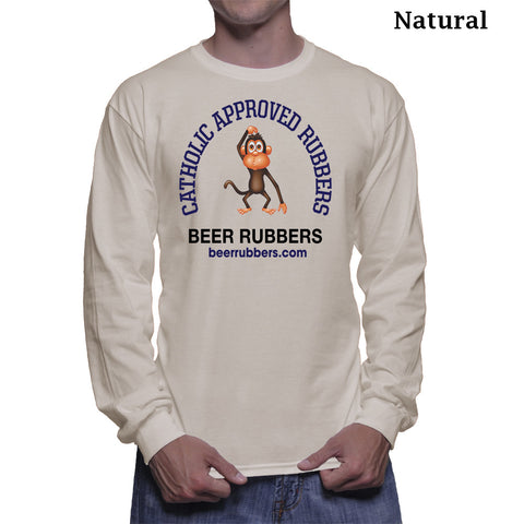 "CATOILIC APPROVED RUBBERS -  MEN'S (Long Sleeve) - Tee-Shirt (Free Shipping) <font color=""gray"">Save 5.00 on Shipping</font>"