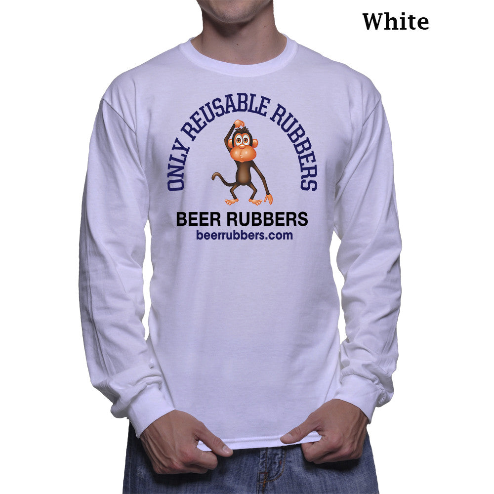 "ONLY REUSABLE RUBBERS - MEN'S (Long Sleeve) - Tee-Shirt (Free Shipping) <font color=""gray"">Save 5.00 on Shipping</font>"