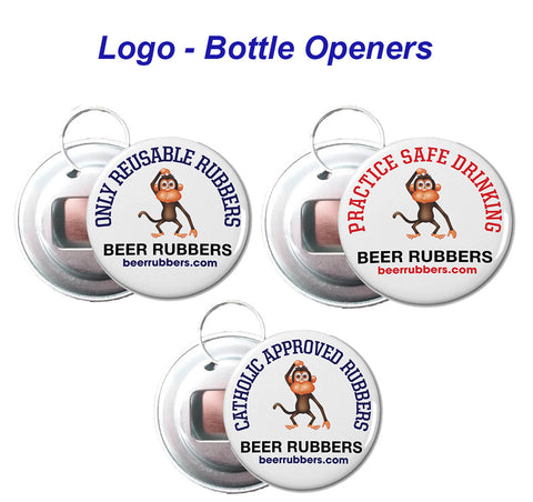 KEY CHAIN - BEER RUBBER BOTTLE OPENER - (FREE SHIPPING)