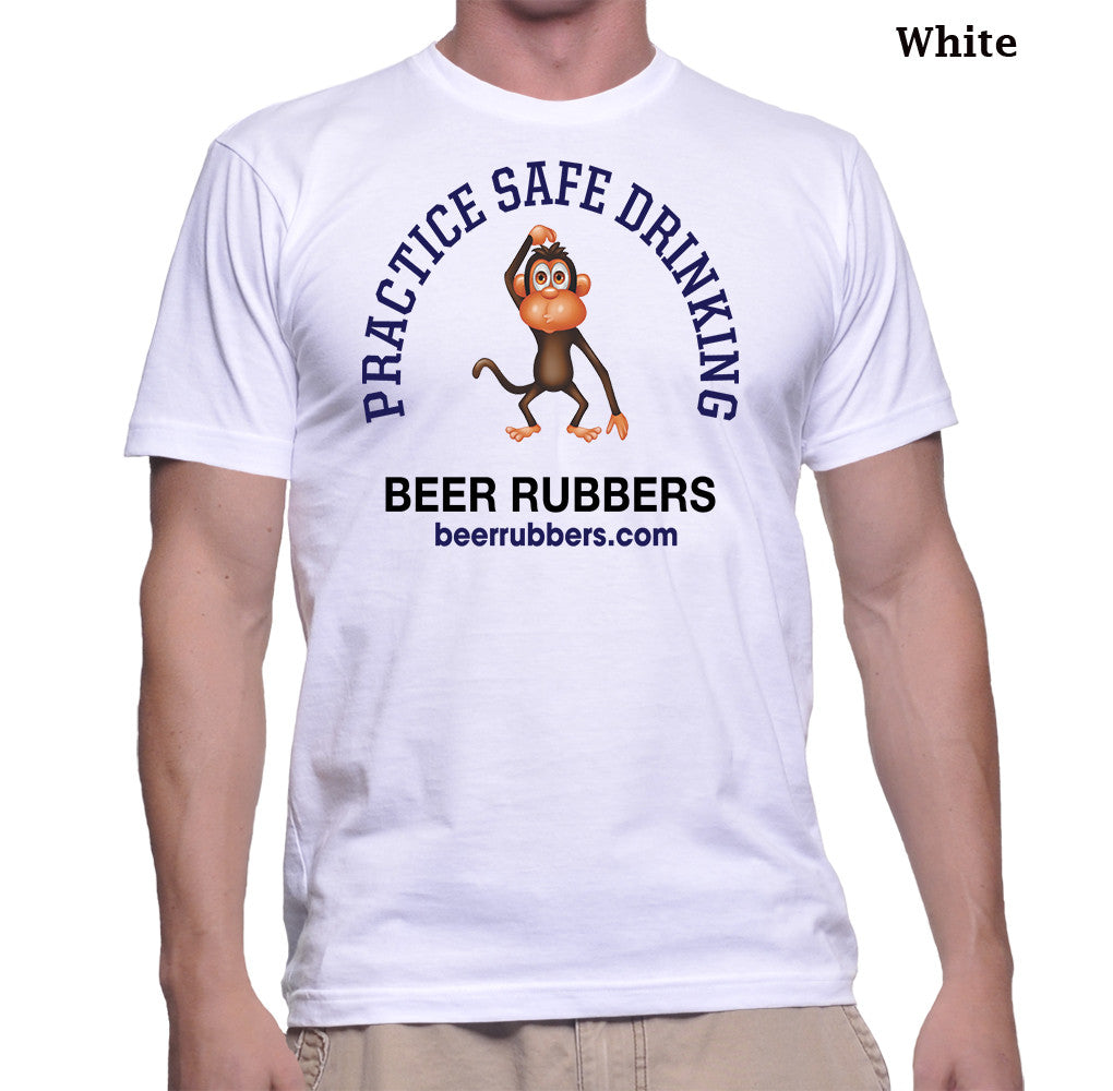 "PRACTICE SAFE DRINKING (1)  MENS - Tee-Shirt (Free Shipping) <font color=""gray"">Save $5.00 on shipping</font>"