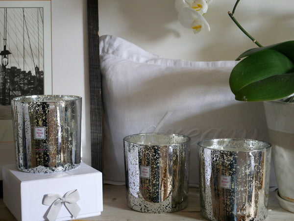 Large Gold & Silver Candles