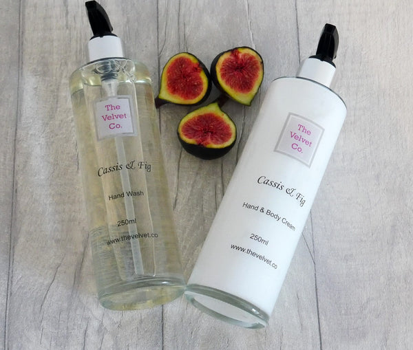 Cassis & Fig Hand Wash and Hand/Body Cream Set