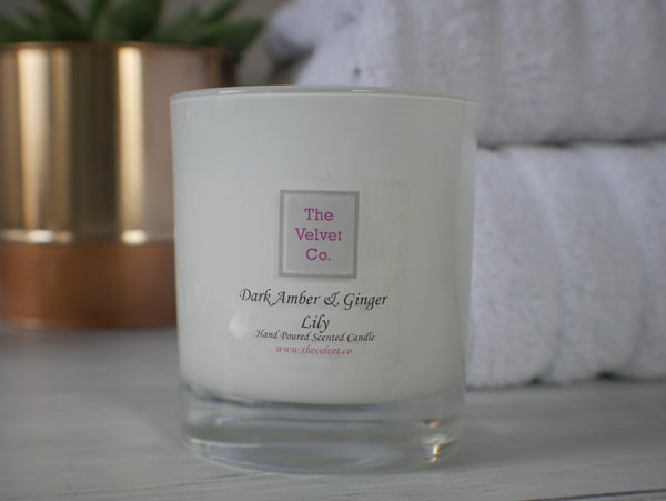 Dark Amber and Ginger Lily Candle