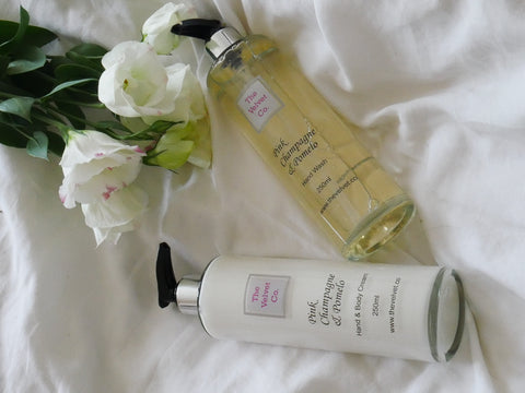 Pink Champagne & Pomelo Hand Wash and Hand/Body Cream Collection