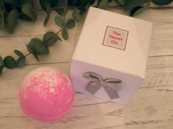 Raspberry and Black Pepper Bath Bomb