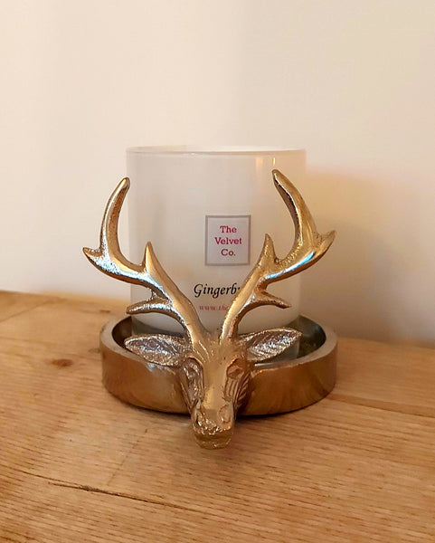 Silver Stag Candle Holder