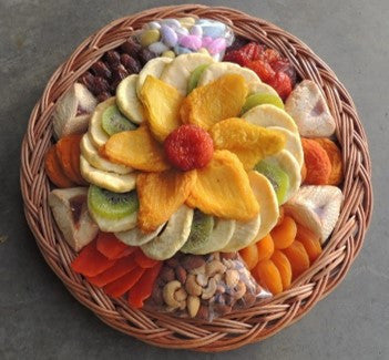 Exquisite CraftedKosher.com Dried Fruit, Nuts and Hamentashen Round Platter