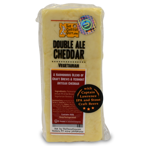 The Cheese Guy Vermont Double Ale Cheddar Cheese Wedge