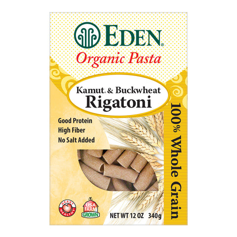 Kosher Eden Foods Organic Whole Grain Kamut and Buckwheat Rigatoni